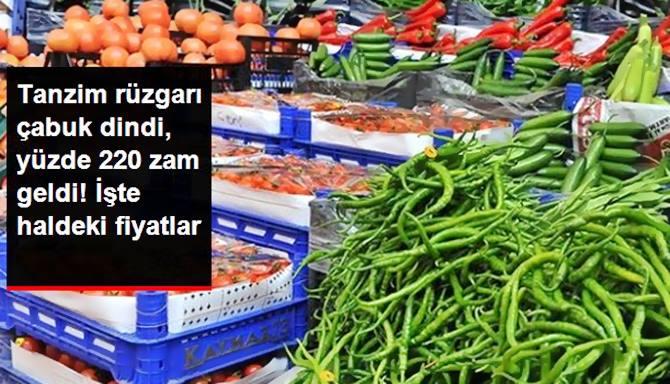 Photo of Meyve Sebze Fiyatları Tanzim Satışları'da Vurdu %220 Zam