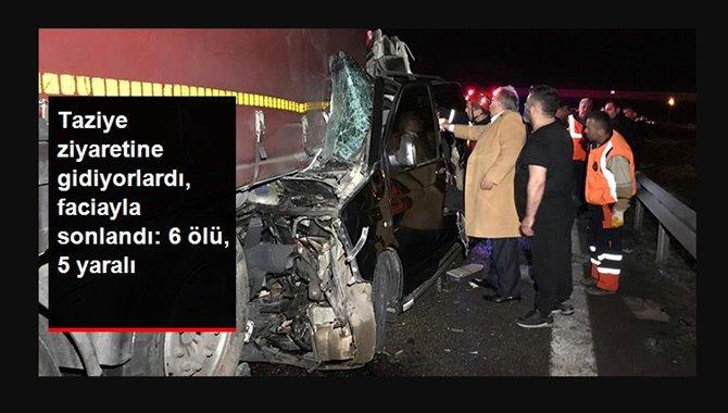 Photo of Antep'ten İstanbul'a Taziyeye Giden Minibüs Kaza Yaptı / 6 Ölü