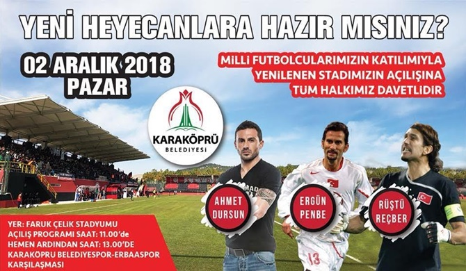 Photo of Efsane Futbolcular Stad Açılışına Geliyor